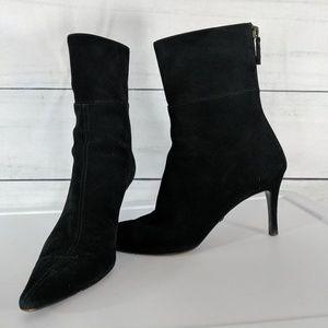Gucci Black Stiletto Pointy Toe Suede Boot  6.5